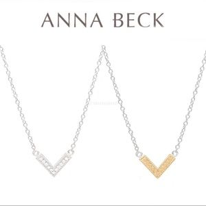 ANNA BECK Reversible Arrow Pendant Necklace